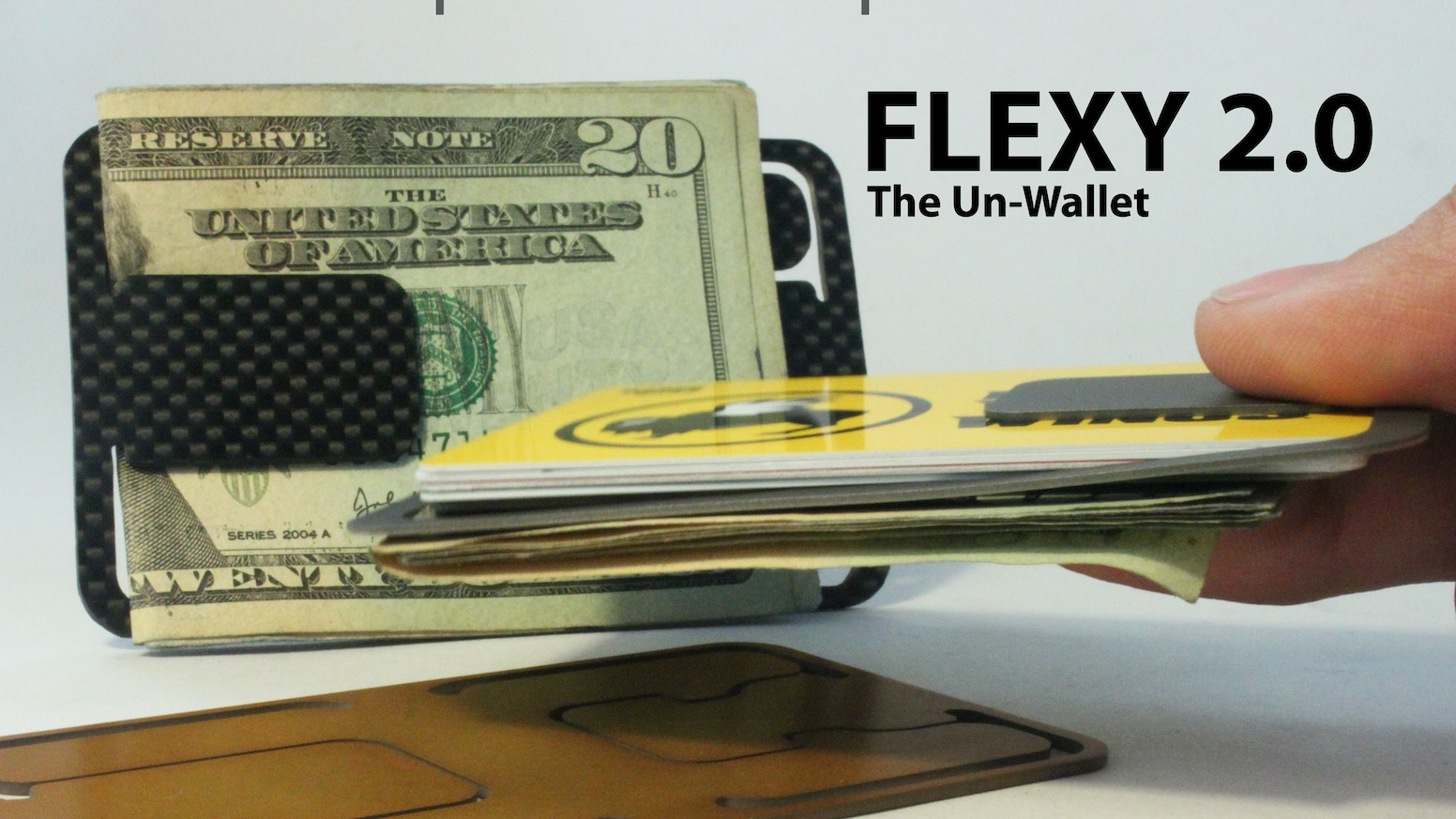 Like no other minimalist wallet. Made in the USA from Titanium, Aluminum, and Carbon Fiber.