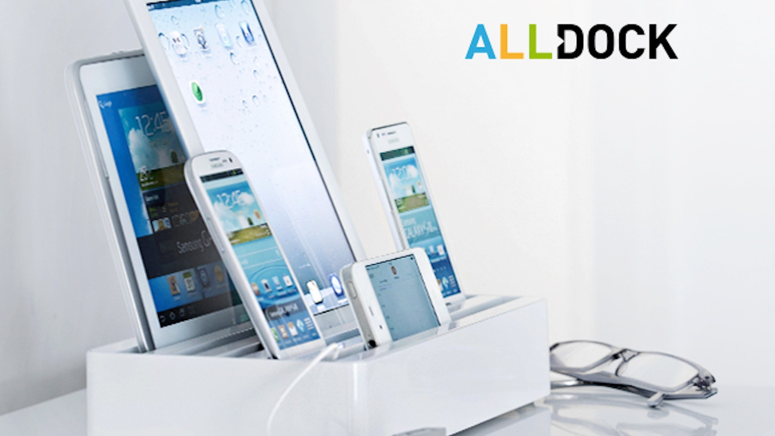 ALL-DOCK: The fastest docking station in the world. Works with iPhone, iPad, Android, Apple, Samsung, Sony, HTC, Kindle, Nokia, Huawei