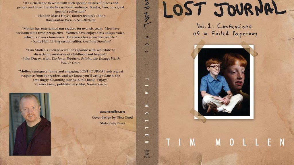 """""""Lost Journal"""" - the BOOK! project video thumbnail"""