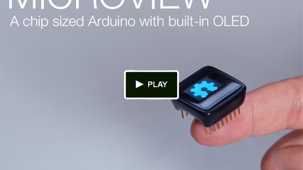 MicroView: Chip-sized Arduino with built-in OLED Display! project video thumbnail