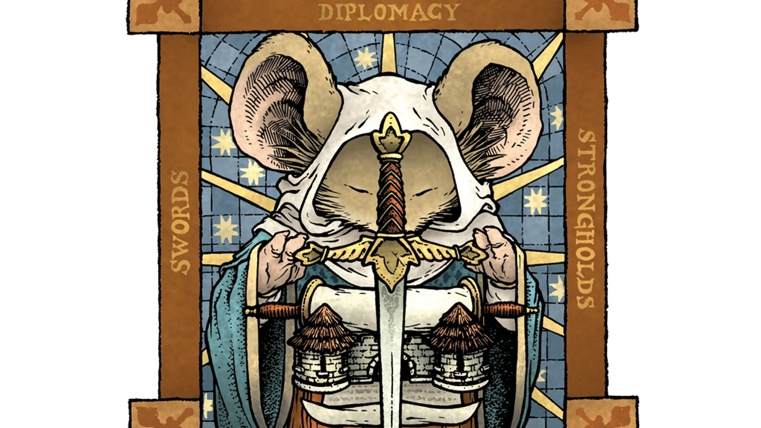 A two-player board game from the Mouse Guard comics—for guardmice, patrons of the June Alley Inn and their fans.