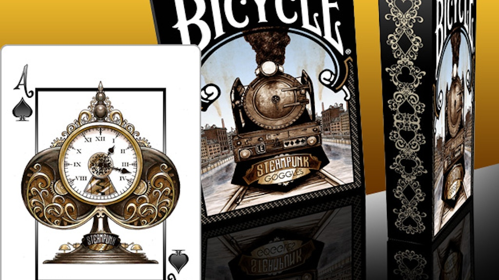 Steampunk Goggles Playing Cards Deck - USPCC Bicycle ® LE project video thumbnail