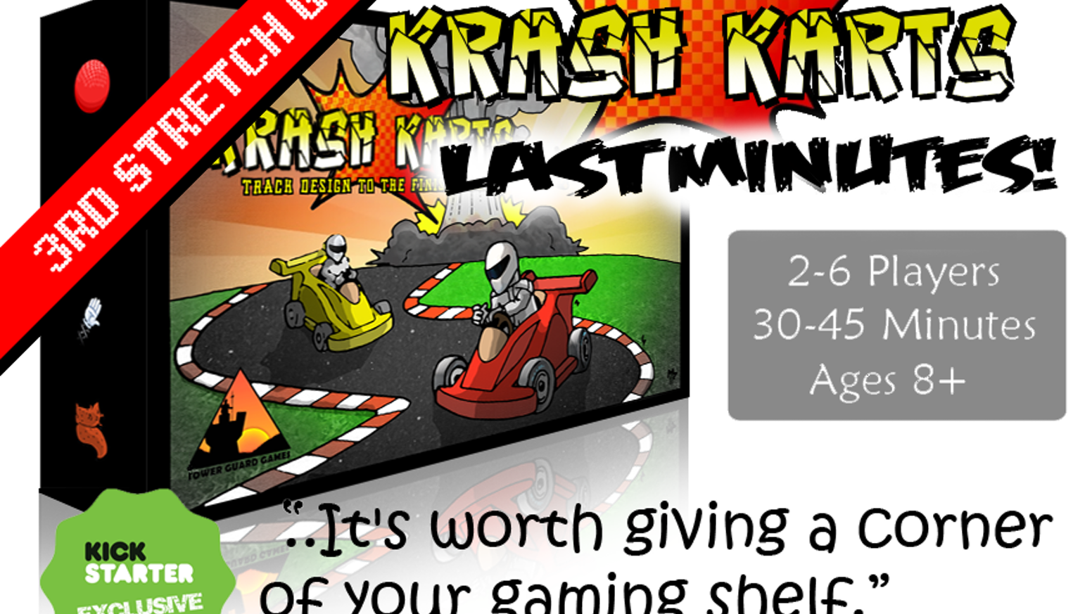Track design to the finish line! Krash Karts is a chaotic combat racing game where you also build the track while you're racing it!