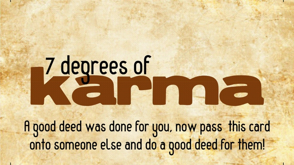 7 Degrees of Karma - Track your random acts of kindness project video thumbnail