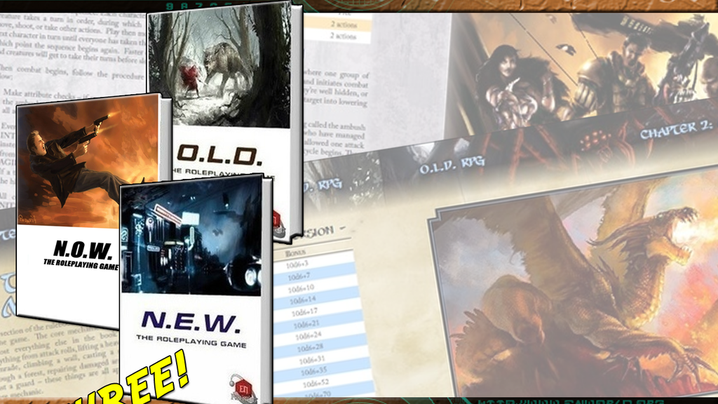 What's O.L.D. Is N.E.W. - Two Crunchy Roleplaying Games! project video thumbnail