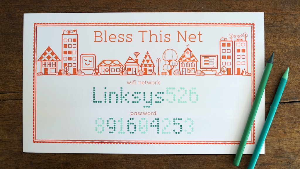 BLESS THIS NET: Letterpress Print for Your WiFi Credentials project video thumbnail