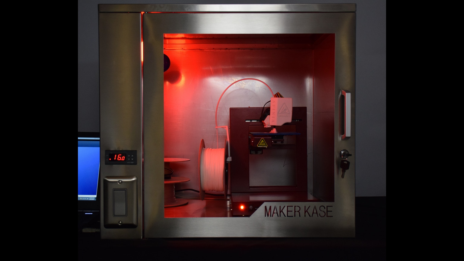 Maker kase universal 3d printer cabinet by people wear for 3d printing kitchen cabinets