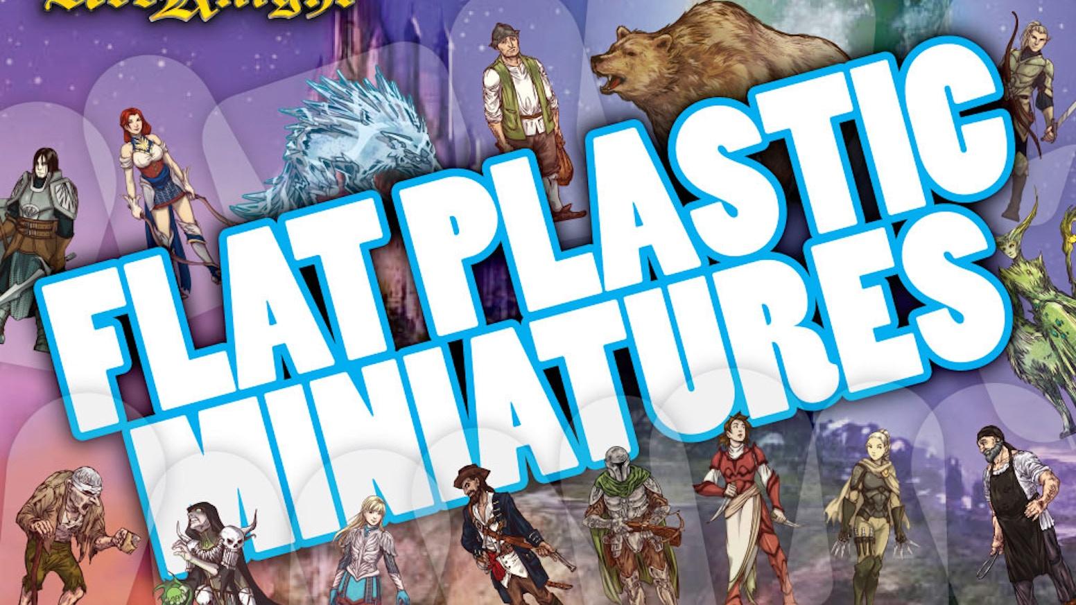 Flat Plastic Miniatures By Arcknight Kickstarter
