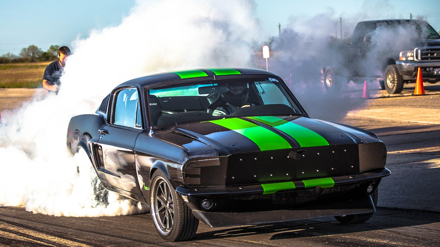 Push The Zombie 222 Electric 68 Mustang Supercar To 200