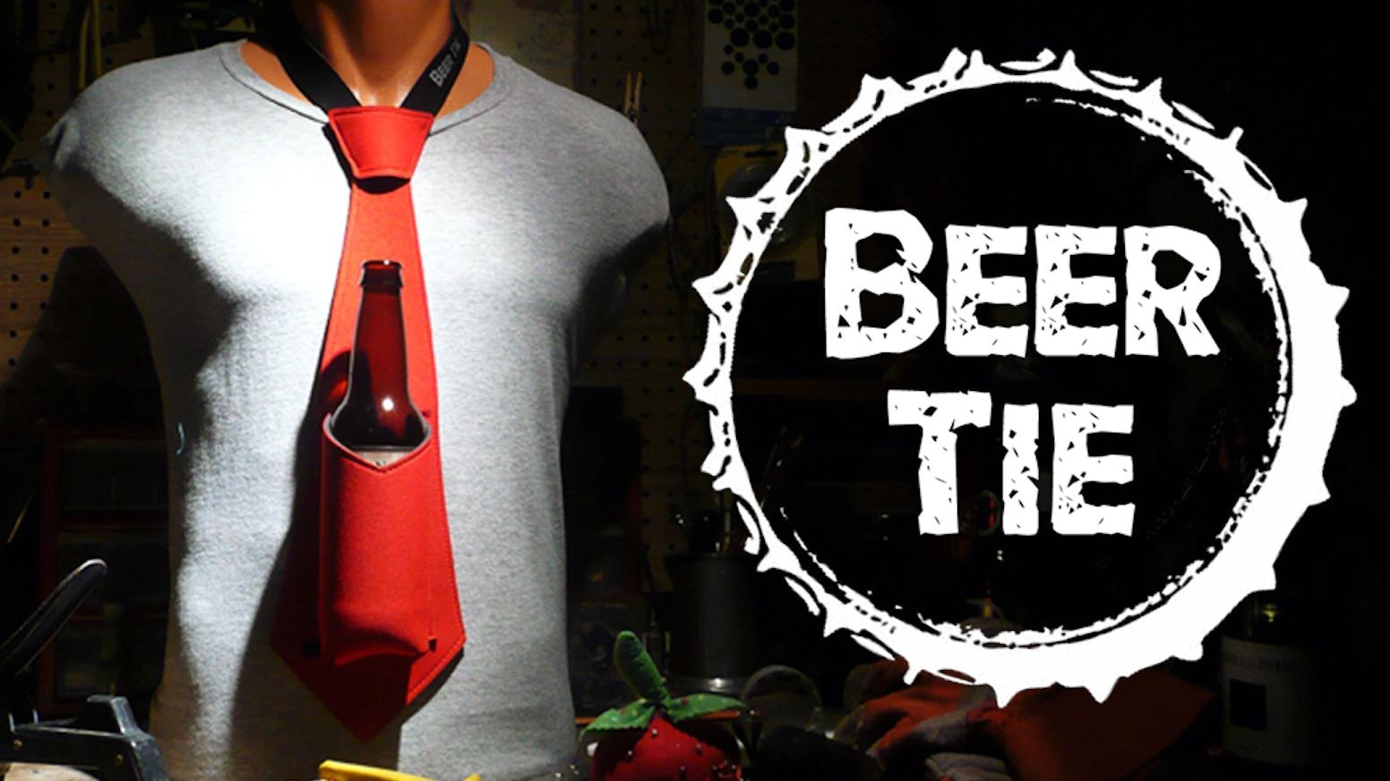 the beer tie neoprene necktie that holds your beer by reuben