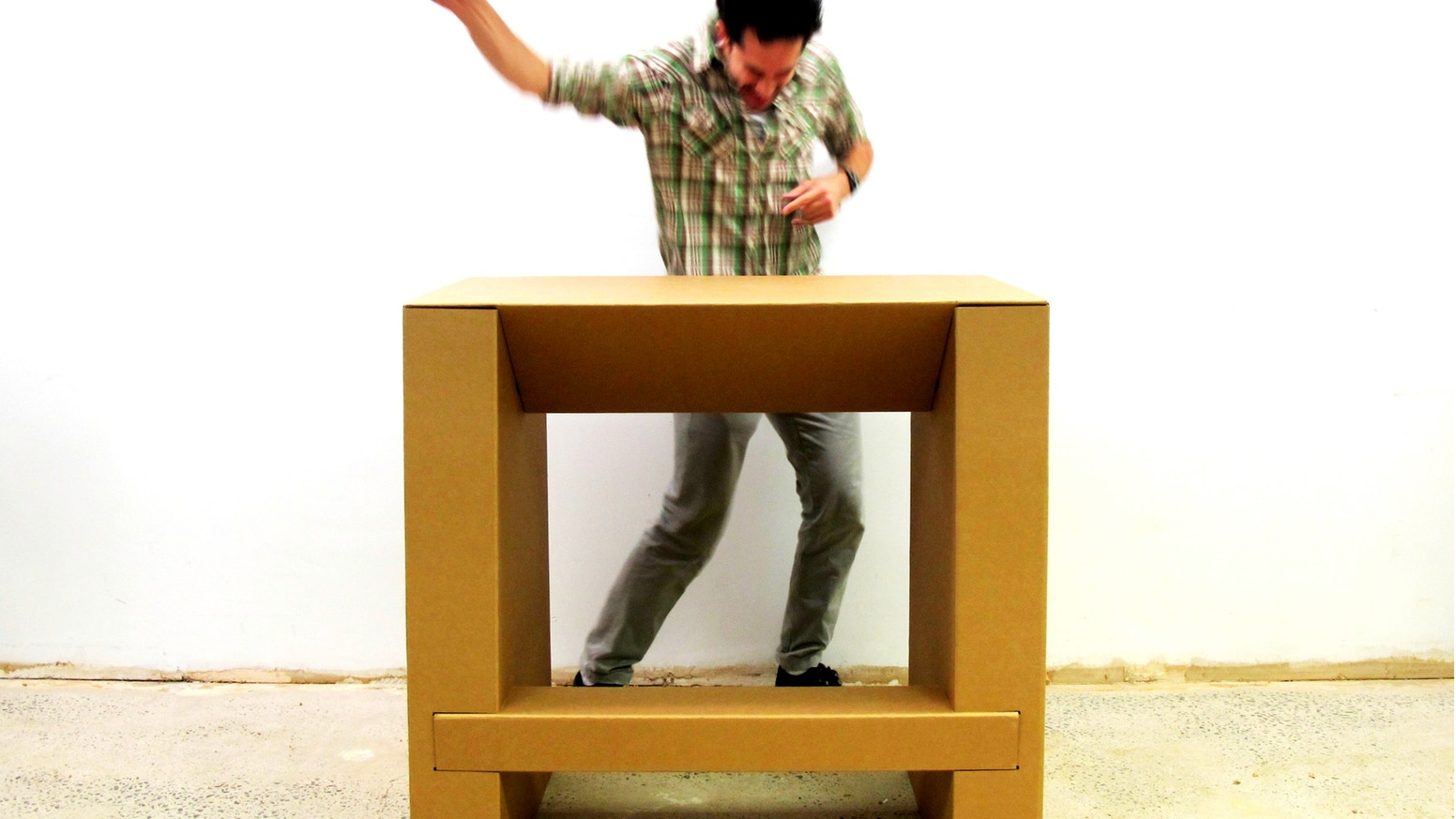 The Cardboard Standing Desk Stand Up