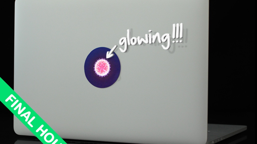 tabtag - glowing, removable and reusable MacBook stickers project video thumbnail