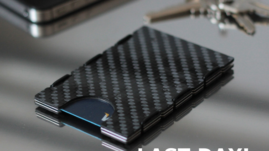 Carbonlite™: Aerospace grade carbon fiber minimal wallet. project video thumbnail