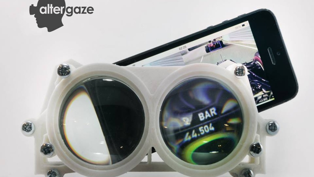 Altergaze: 3D printed VR Goggles for Smartphones project video thumbnail