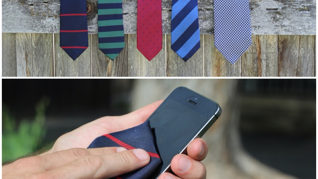 Tommies: Neckties w/microfiber to clean your screen, glasses project video thumbnail