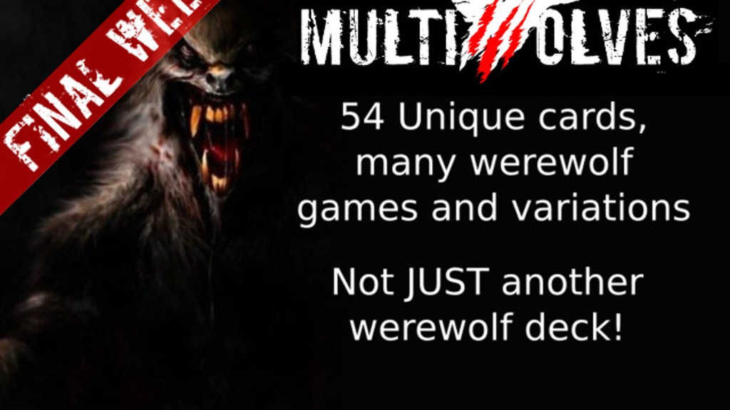 Multiwolves - Not just another werewolf deck project video thumbnail