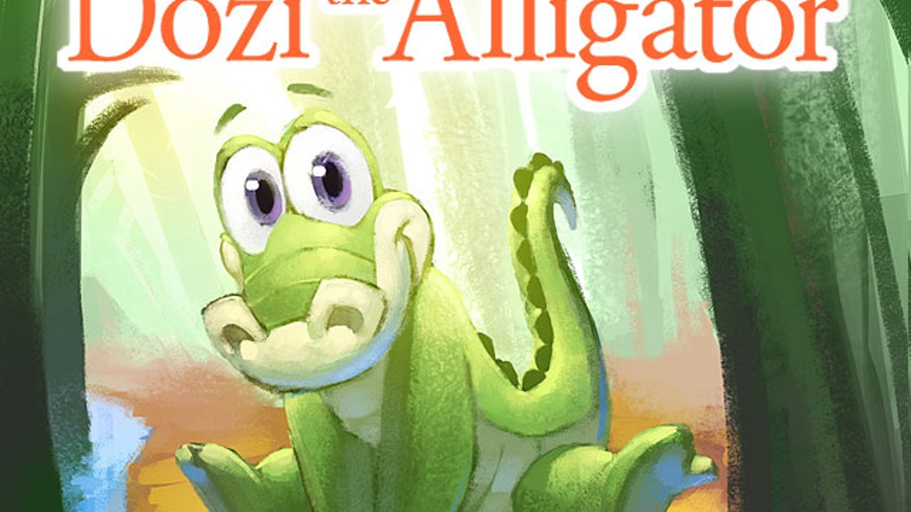Dozi the Alligator: An illustrated children's book project video thumbnail