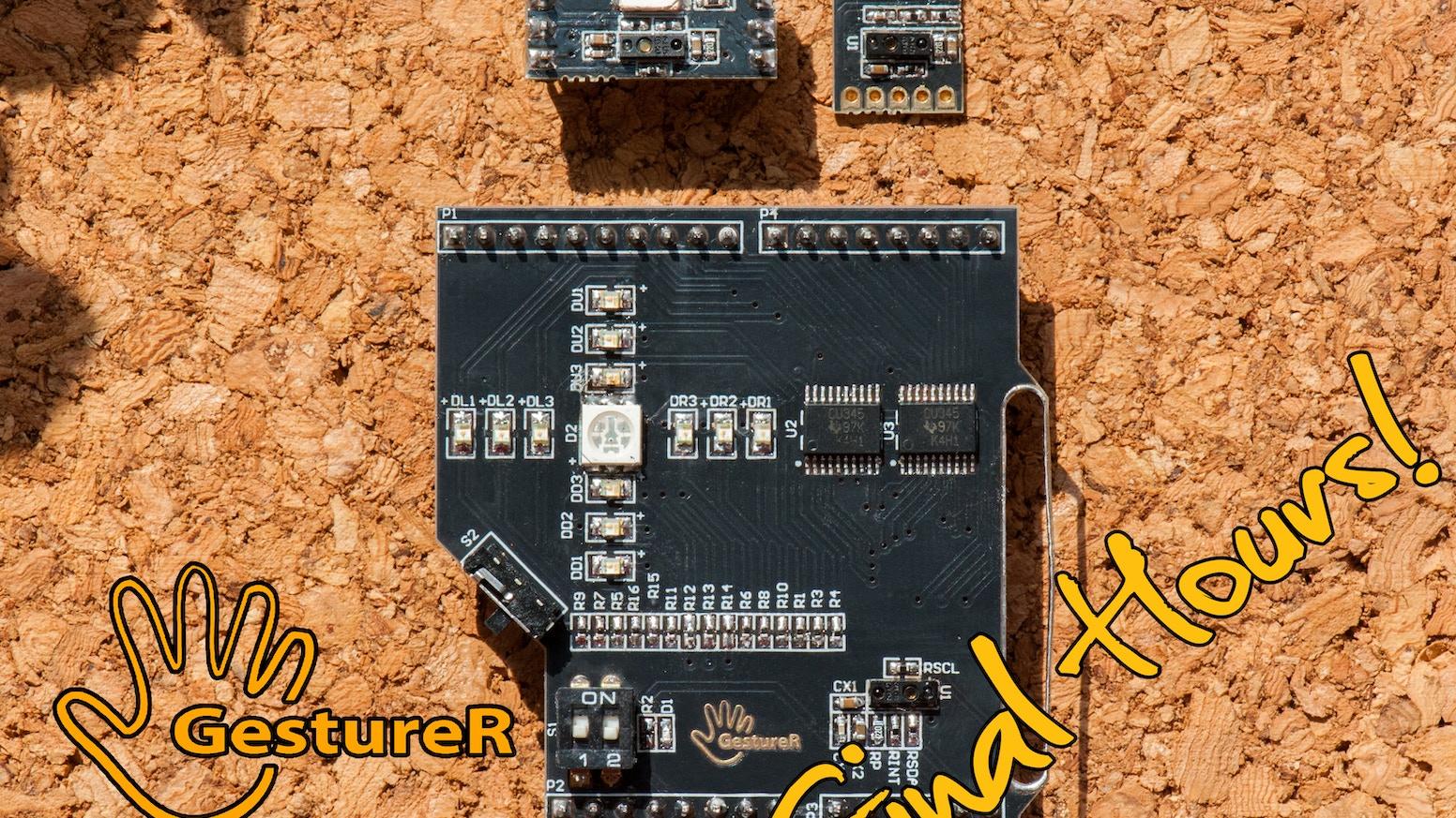 GestureR - Gesture Sensing, Proximity Sensing, Ambient Light Sensing in a single tiny module for Arduino