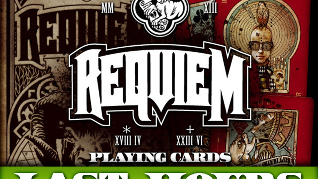 Requiem Playing Cards Deck - printed by USPCC project video thumbnail