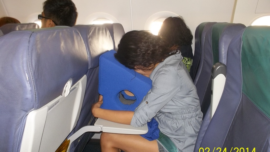 Project image for Forward Front Face Pillow Cushion for airline travel