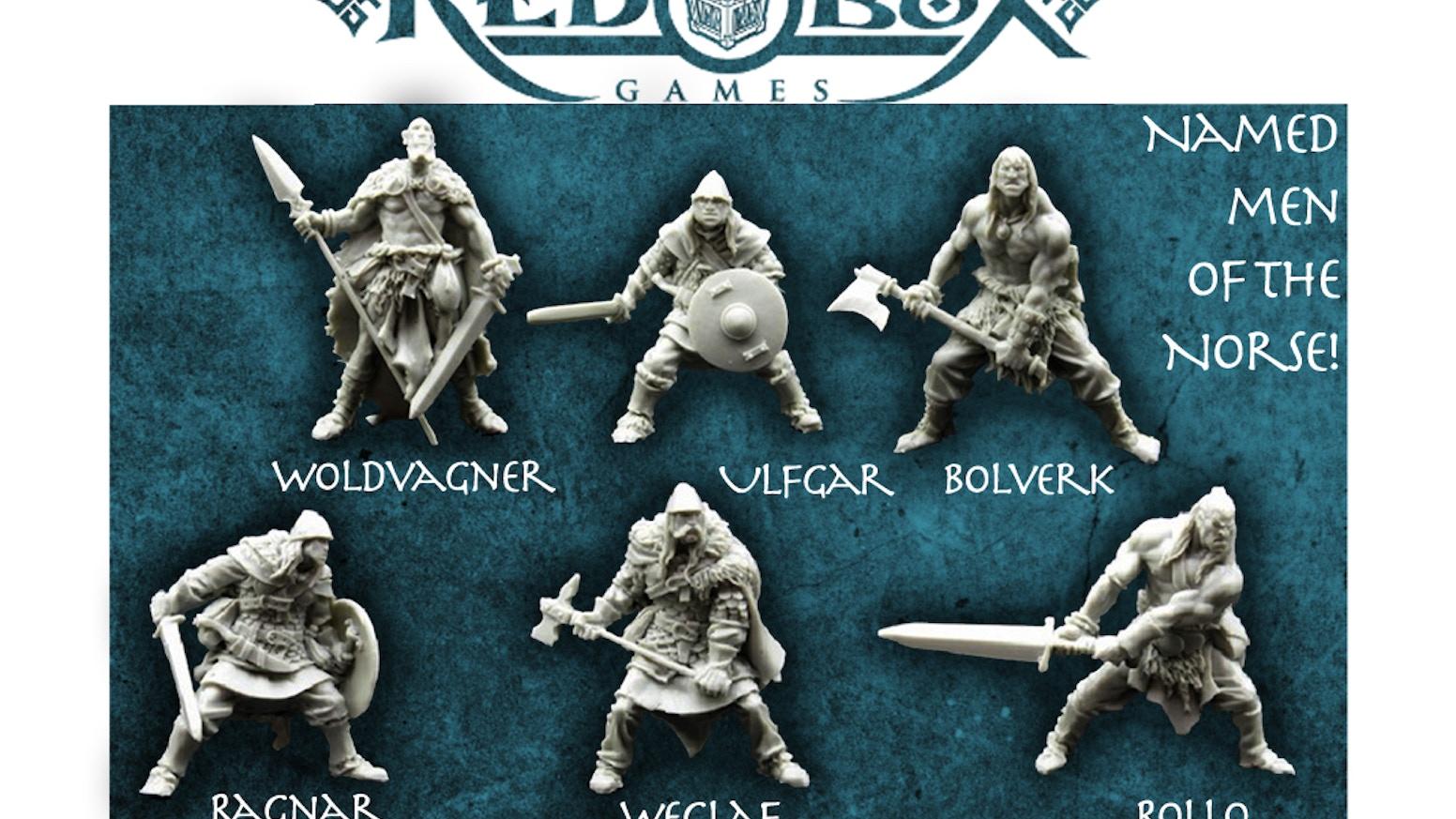 Red Box Games Norse Warrior Miniatures By Tre Manor Kickstarter