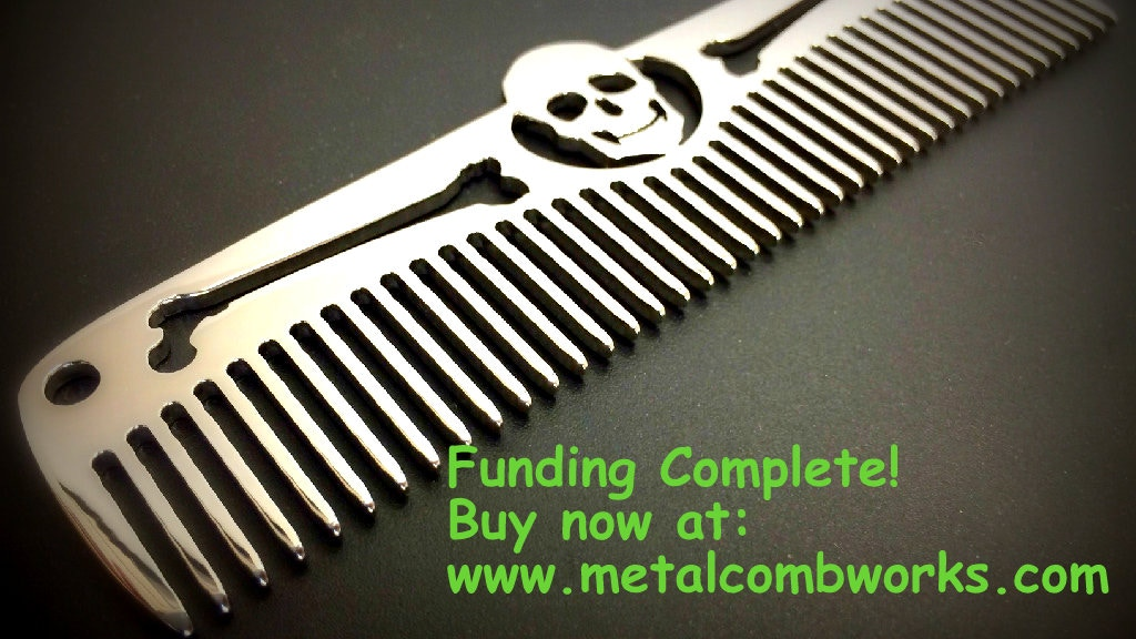 Metal Comb Works: Titanium and Stainless Steel pocket combs. project video thumbnail