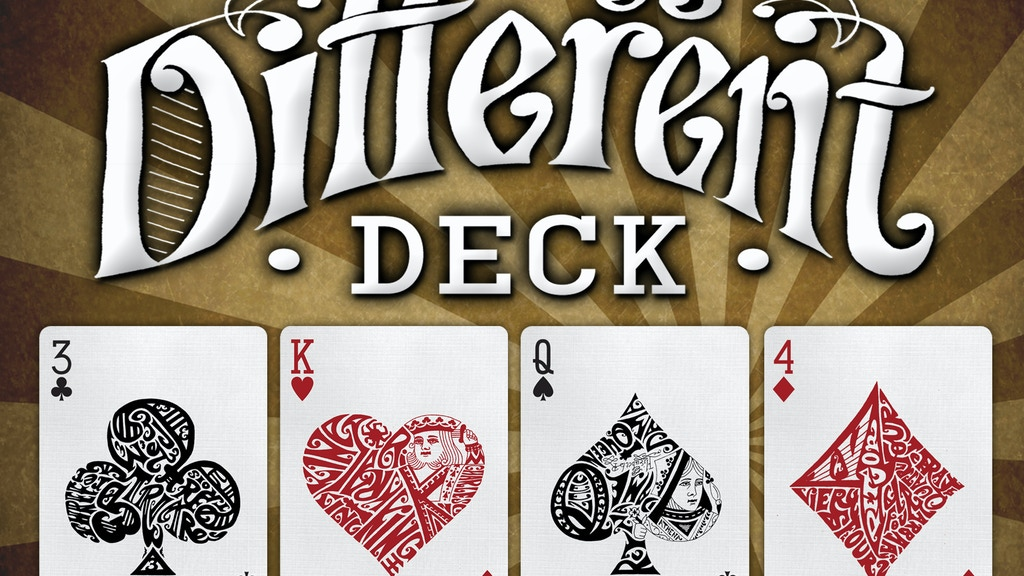 Different Deck - Playing Cards Reinvented project video thumbnail