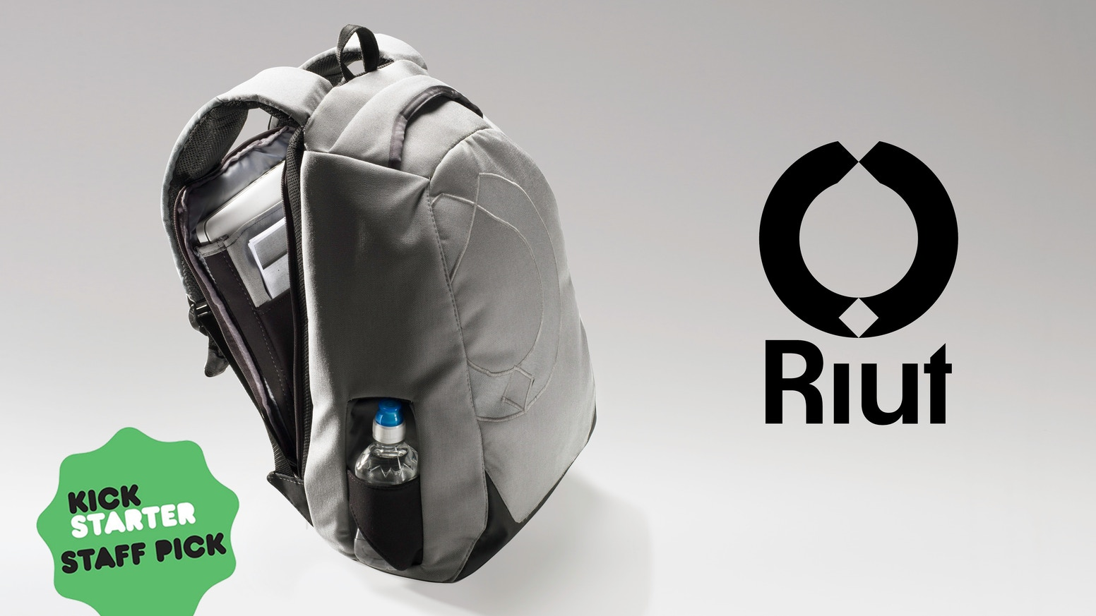Secure laptop backpack with no outer zips. They're all against your back for safe, calm city travel, to work and on holiday. Now available at www.riut.co.uk