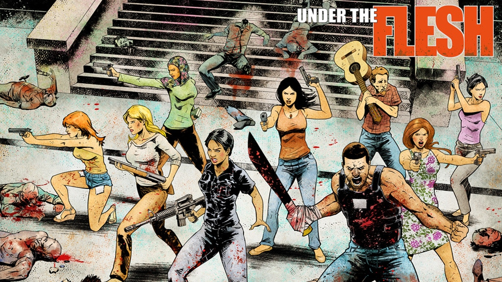 UNDER THE FLESH #1 - Grindhouse Zombie Comic Mashup! project video thumbnail