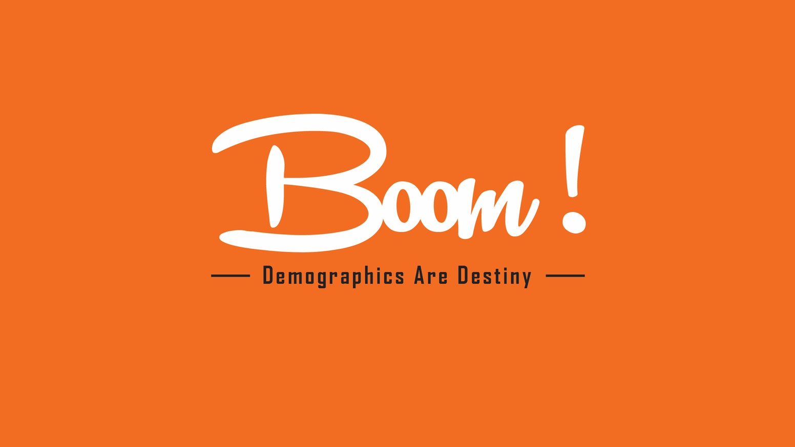 Boom! is a feature-length documentary about the Baby Boomer generation reaching retirement and their Financial Planning.