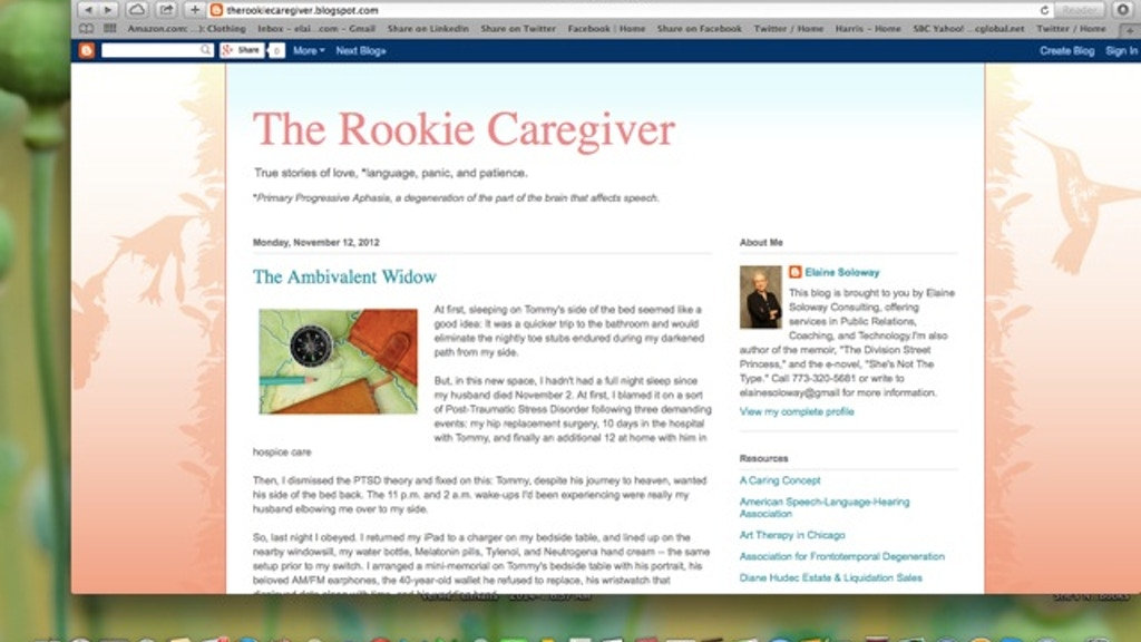 The Rookie Caregiver/The Rookie Widow Becomes A Book! project video thumbnail