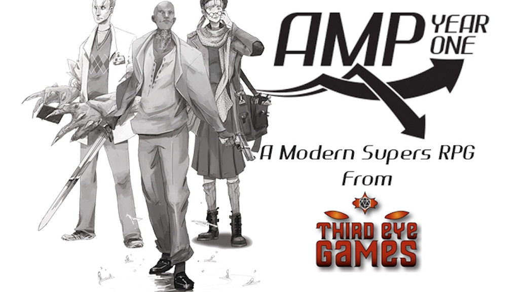 AMP: Year One, A Modern Supers RPG from Third Eye Games project video thumbnail