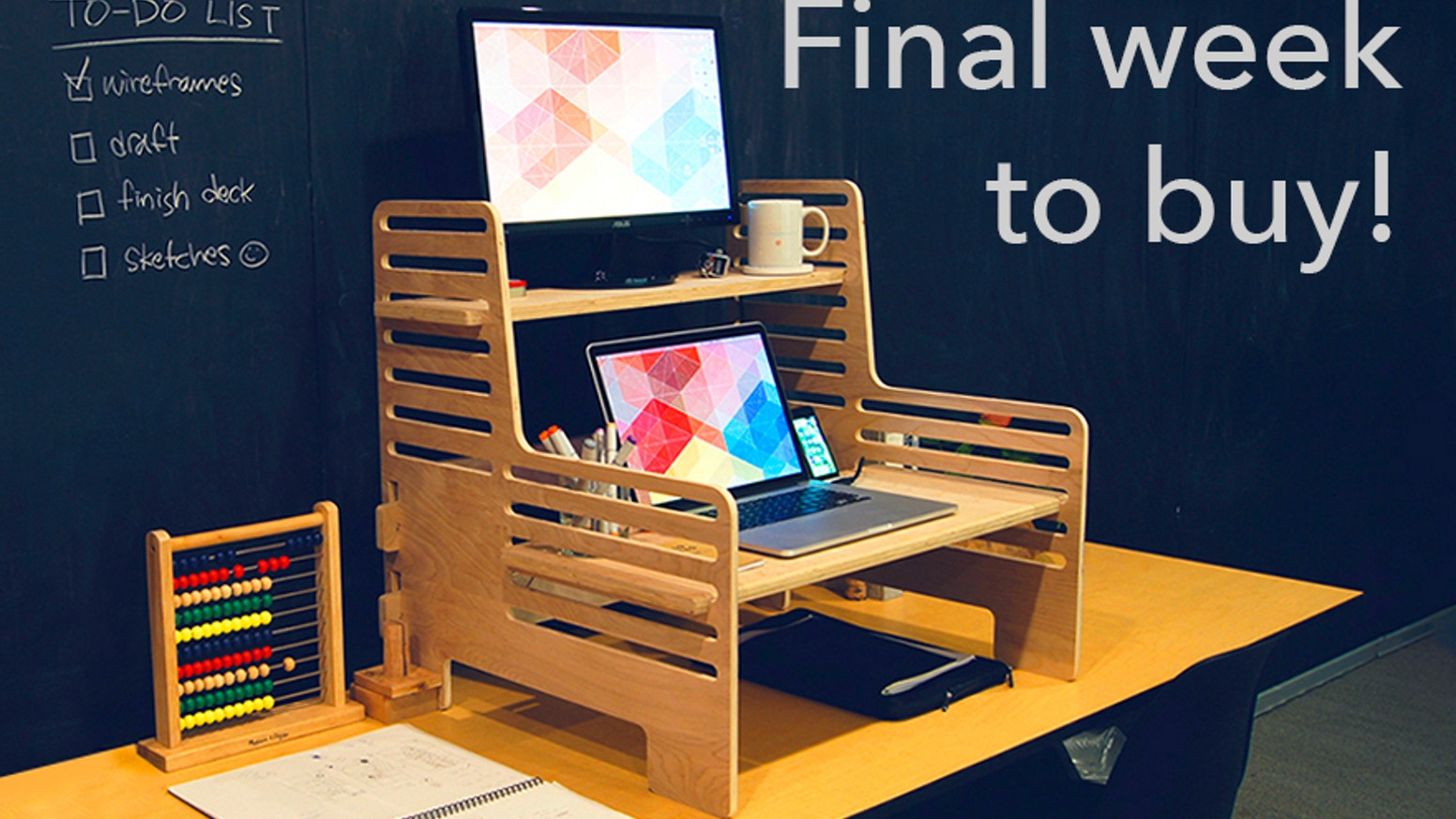 Turn any desk or table into a standing desk with the adjustable, portable, affordable UpStanding Desk. Think on your feet. Visit www.theupstandingdesk.com
