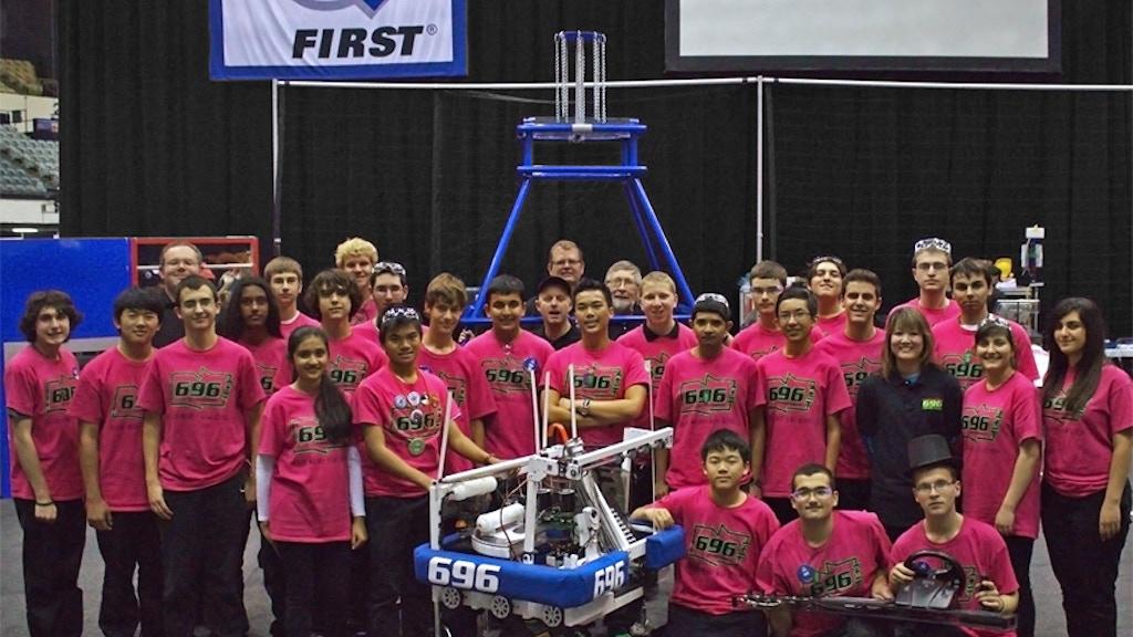 TEAM 696: 2014 FIRST ROBOTICS - Clark Magnet High School project video thumbnail