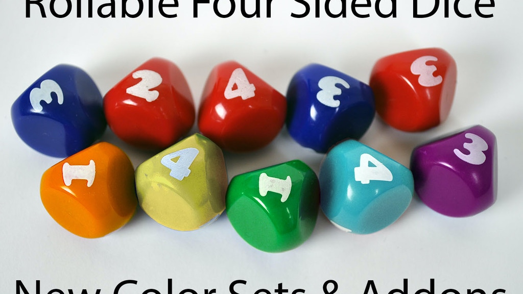 d4 - Rollable 4 Sided Dice project video thumbnail