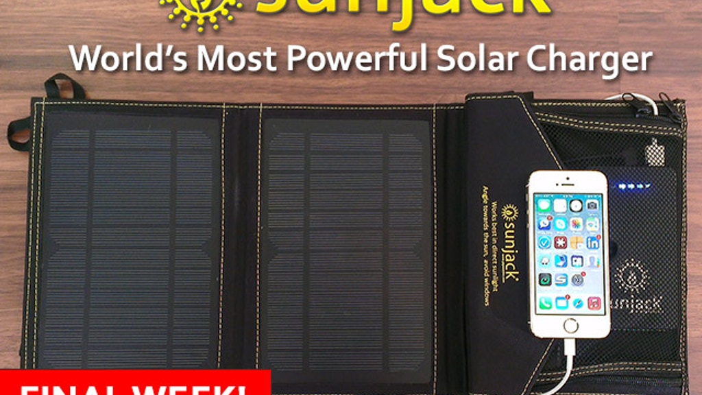 SunJack® Solar Charger - Portable Energy Independence project video thumbnail