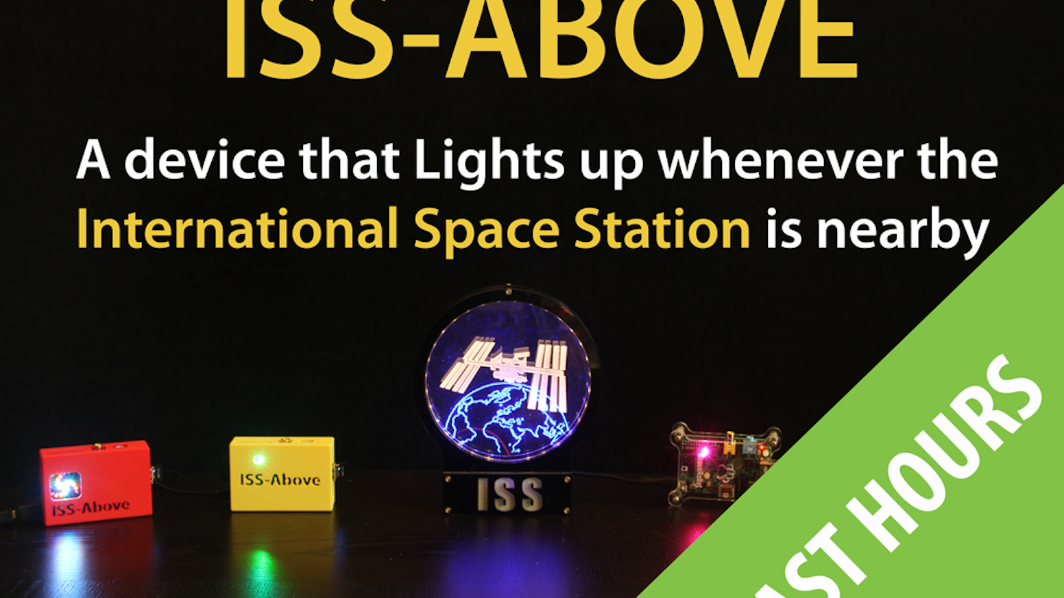 A device that lights up whenever the International Space Station is nearby (that happens more often than you might expect)