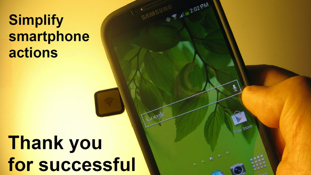 nfcTack 2.0 - Simplify Smartphone with NFC & Nano Suction project video thumbnail