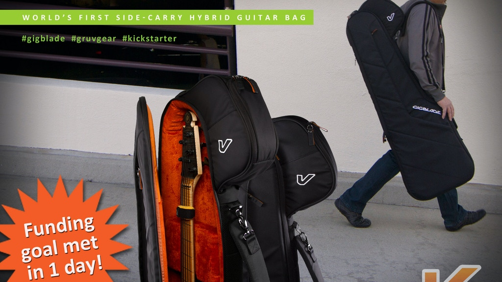 GigBlade: A Revolutionary Side-Carry Hybrid Guitar Gig Bag project video thumbnail