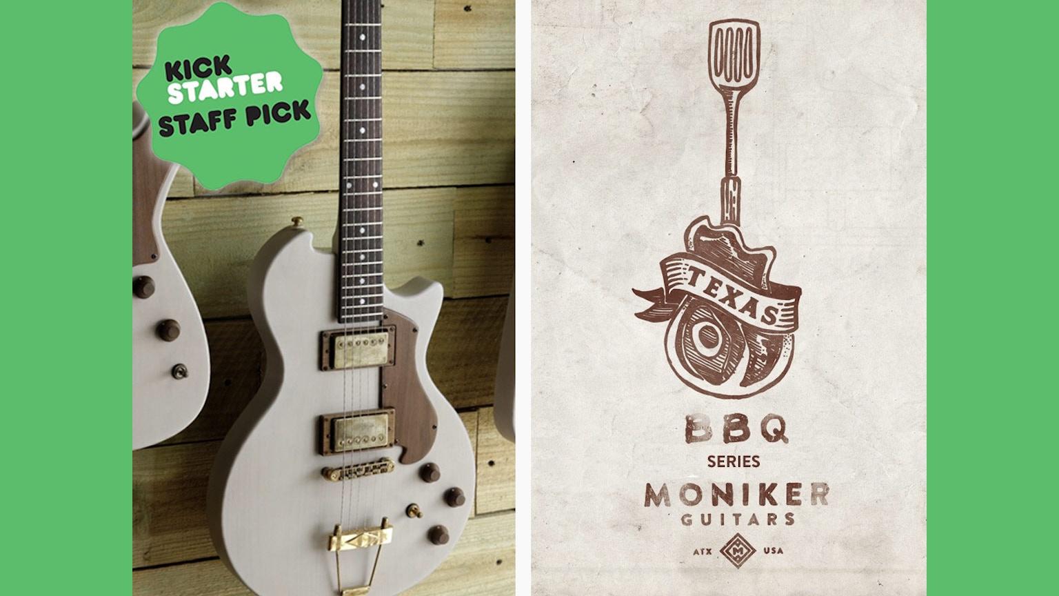 moniker guitars design your custom guitar online tx bbq by kevin tully kickstarter. Black Bedroom Furniture Sets. Home Design Ideas