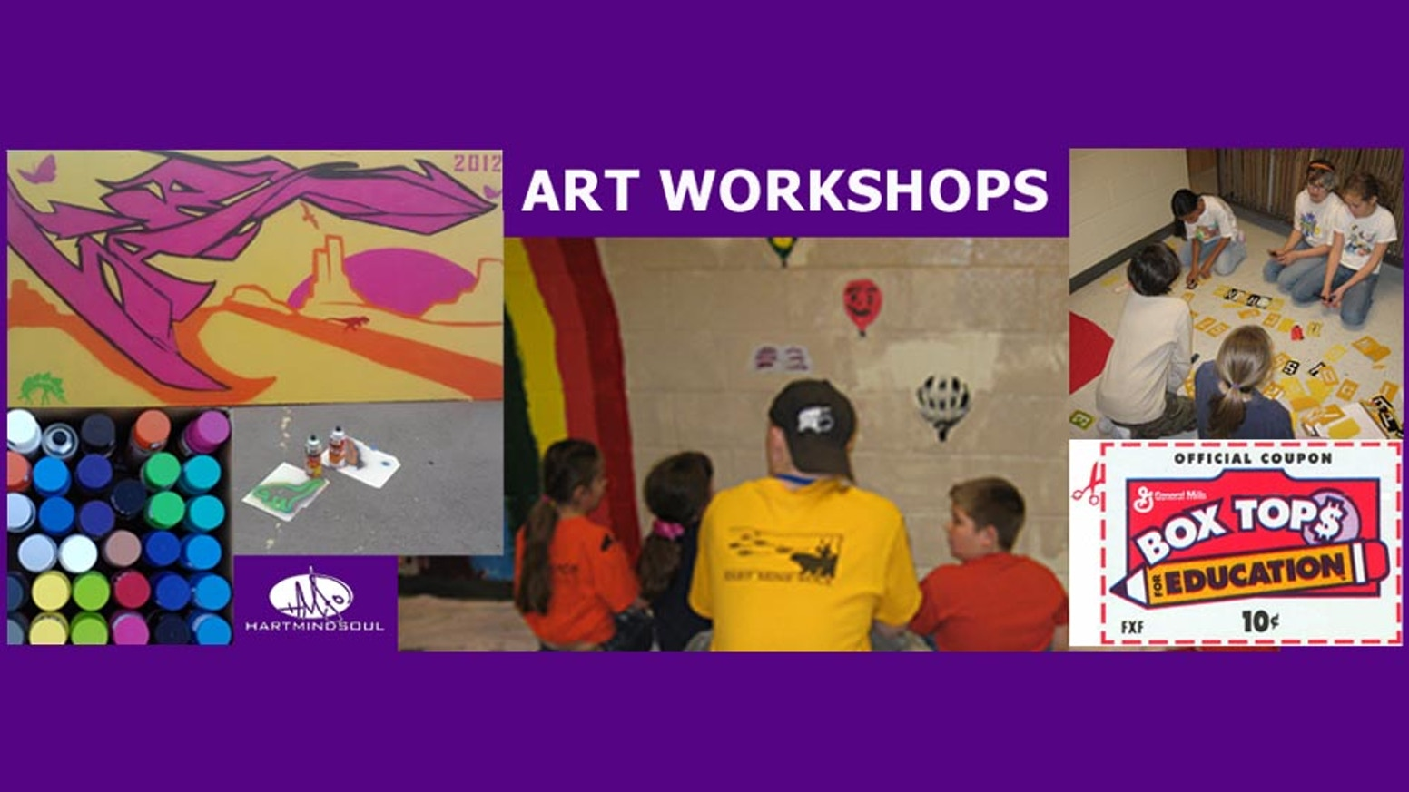 Art education mural workshop by peter nathaniel van for Education mural