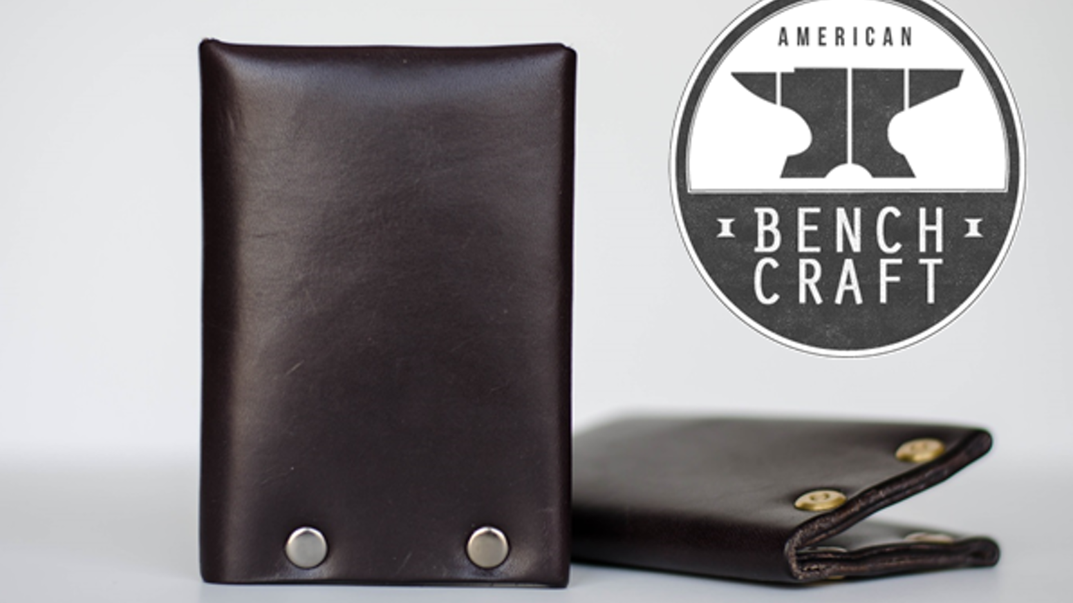 American Bench Craft was founded by two brothers with one goal: to make a better wallet. They created The Hammer Riveted Wallet, and today, they are living the American Dream, designing and manufacturing leather goods in their own old-school workshop.