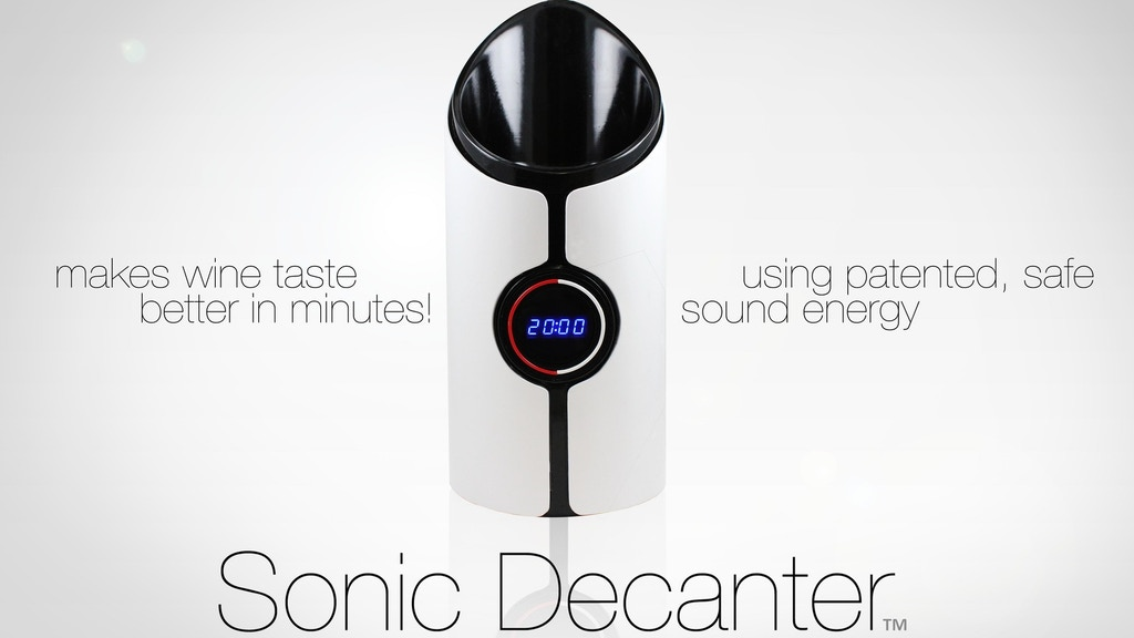 Sonic Decanter - Makes Every Wine Better! project video thumbnail