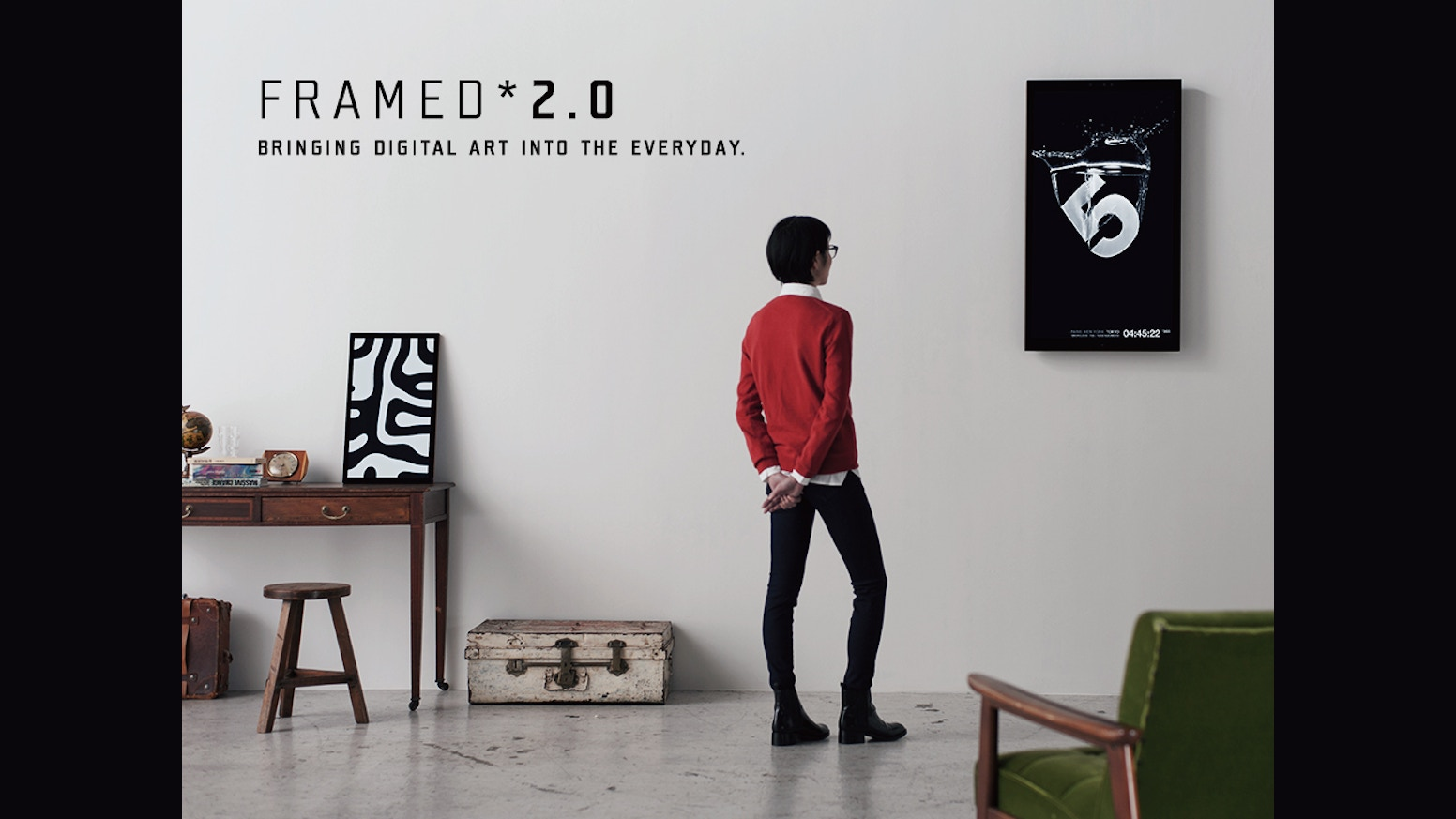 framed allows you to showcase an infinite selection of digital artworks in everyday environments