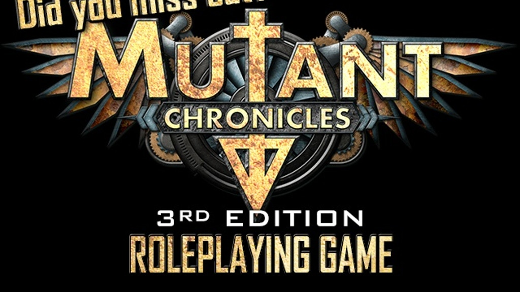 Mutant Chronicles 3rd Ed. RPG project video thumbnail