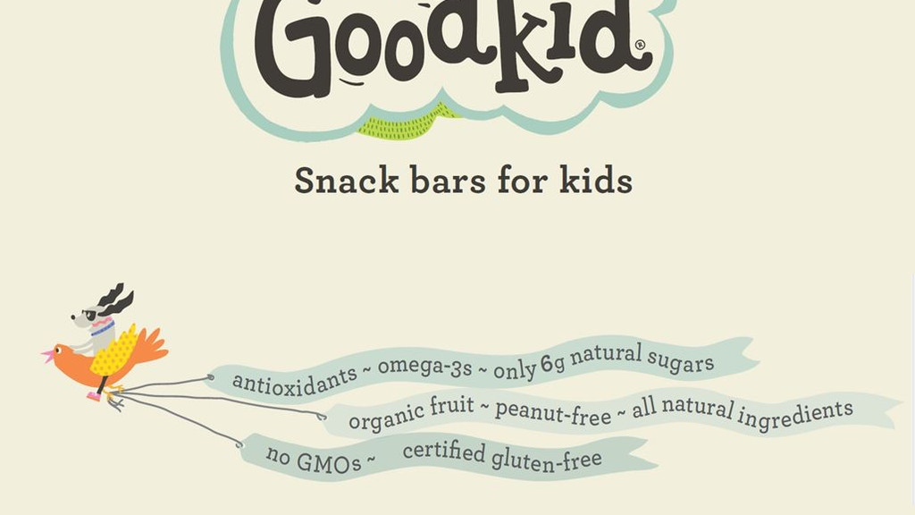 Healthy, low sugar snack bars for kids, by Goodkid Foods project video thumbnail