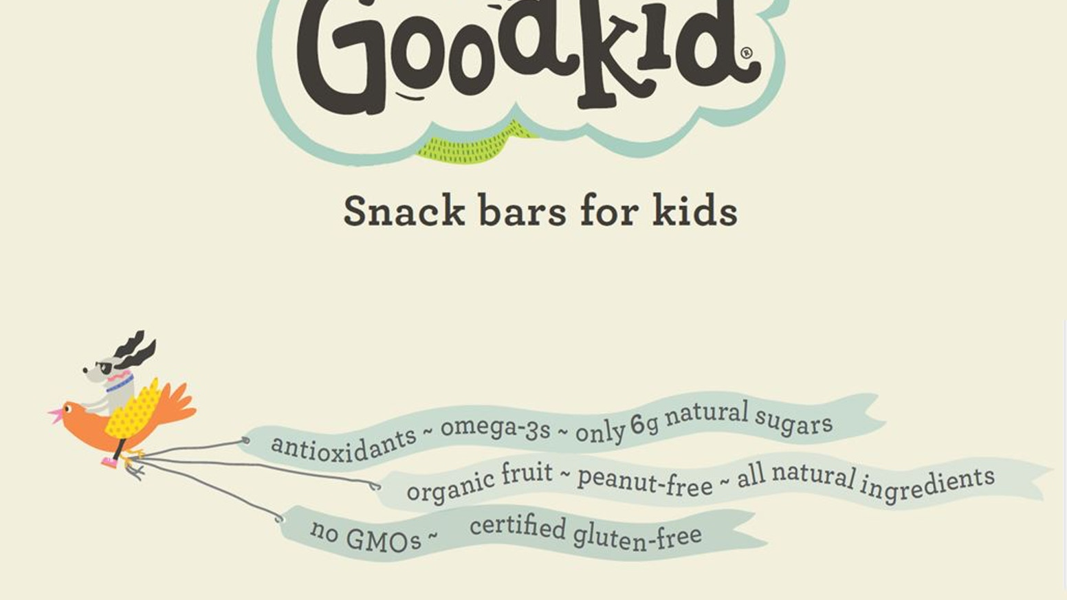 Healthy, low sugar snack bars for kids, by Goodkid Foods by