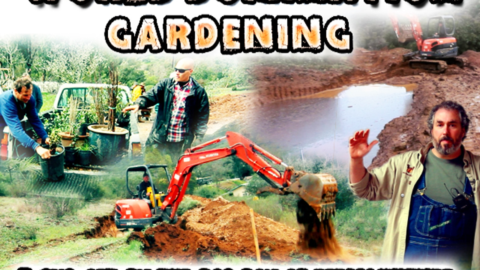 Documentary featuring Hugelkultur, Earthworks and the Bad Boy of Permaculture. With a pond, a swale and a hugelkultur bed on a terrace.