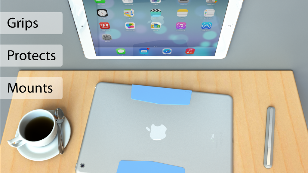 MagBak mounts, grips, protects your iPad. Minimalist design project video thumbnail