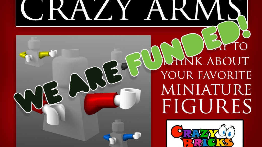 CRAZY ARMS © for your Miniature Brick Figures project video thumbnail